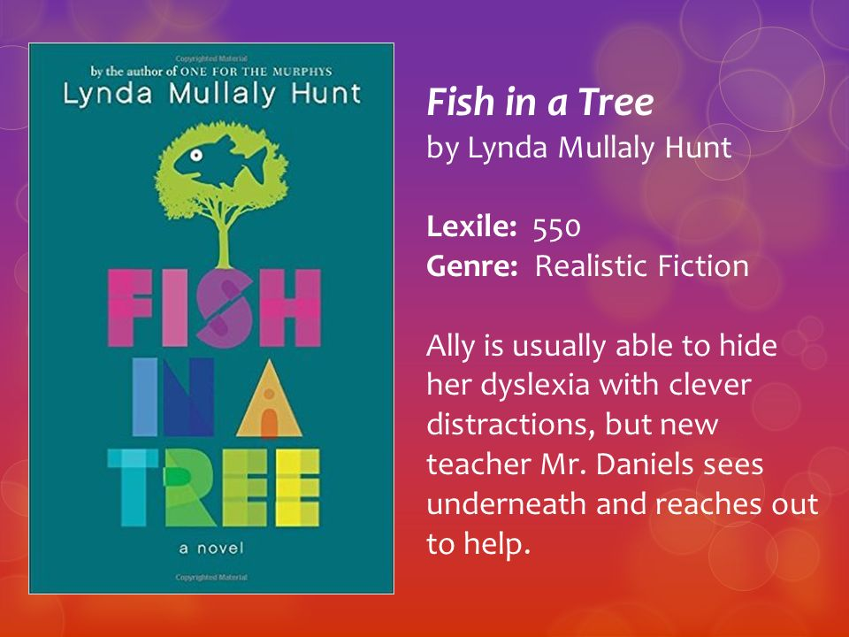 Introducing the south carolina junior book award nominees for Fish in a tree by lynda mullaly hunt