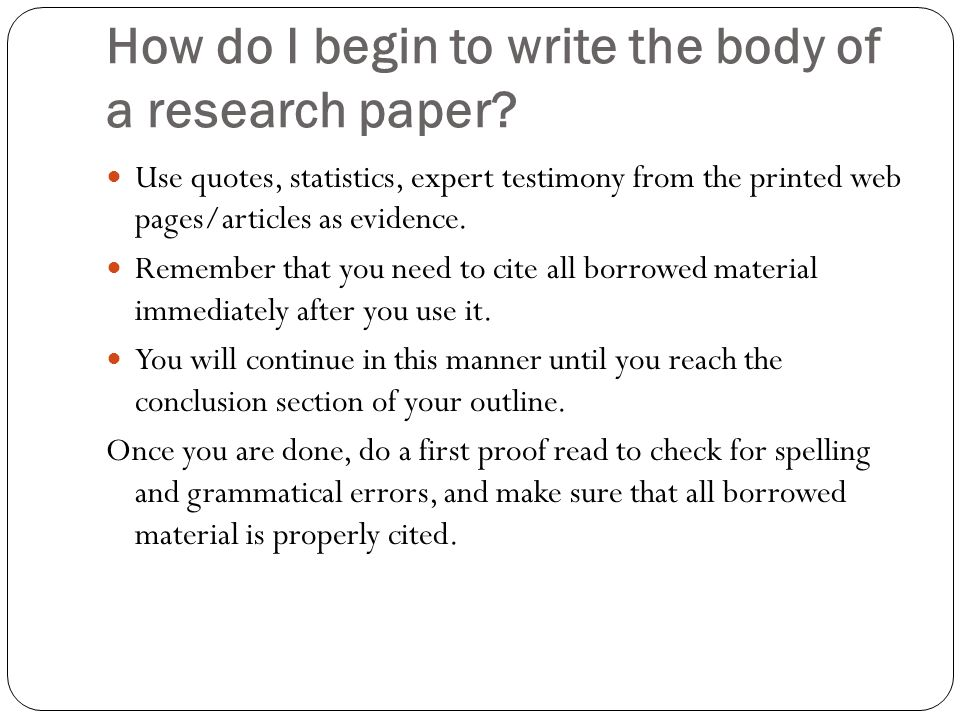 how to do a term paper