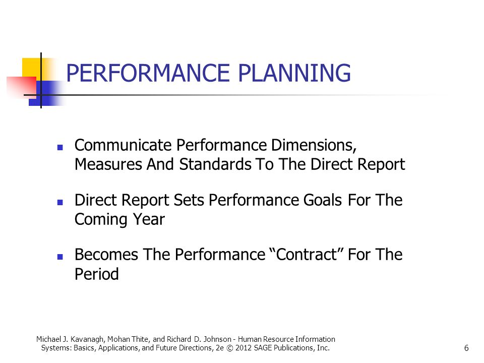 Planning for performance