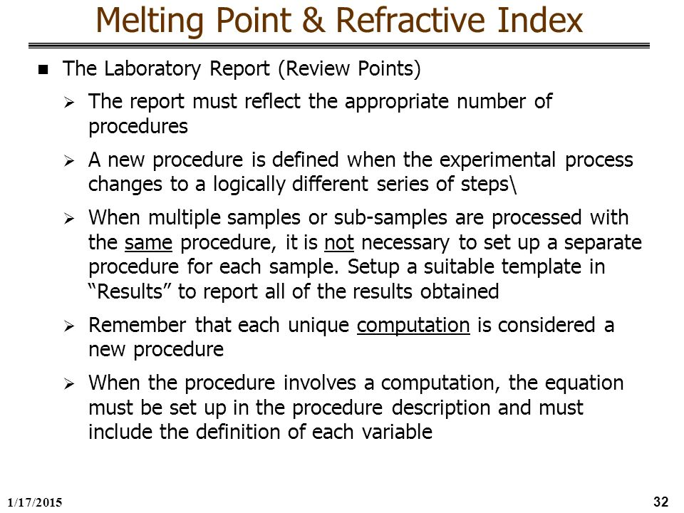 melting points lab report