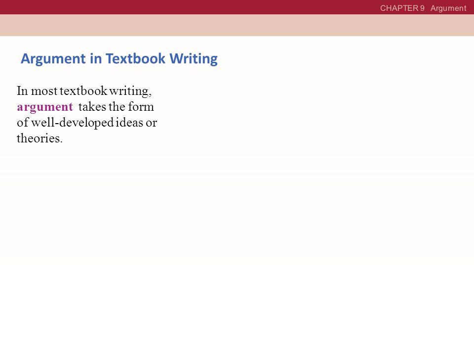 Argument in Textbook Writing