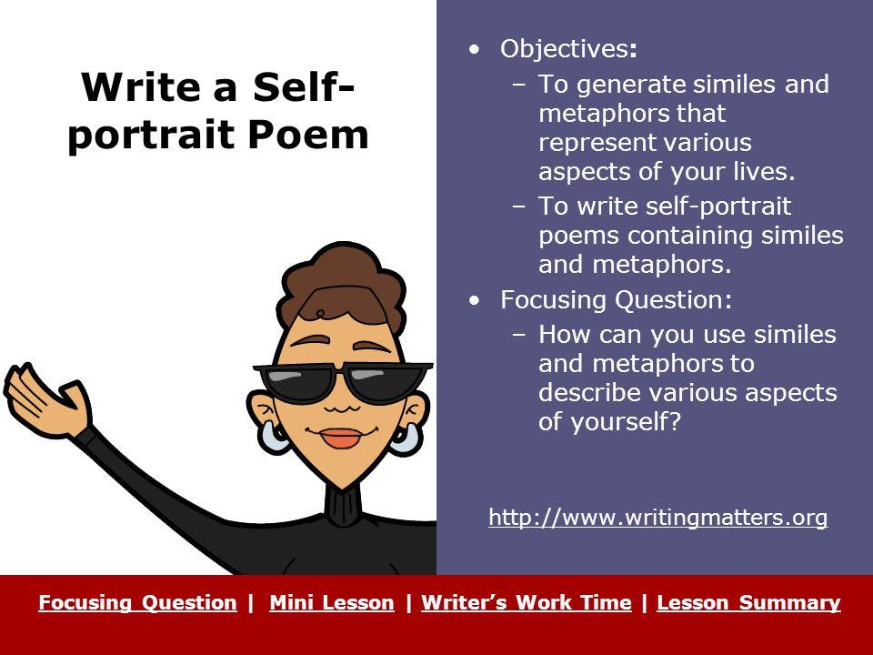 describe yourself as a writer