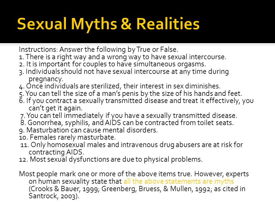 Sexual Myths & Realities