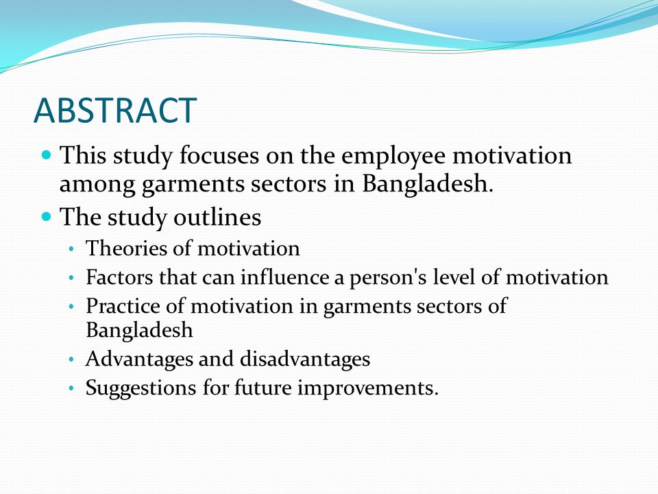 an analysis of the factors for the organization motivation This study has been made with a view to analyze the factors affecting  employee's motivation in hospitality industry doing this study, it made.