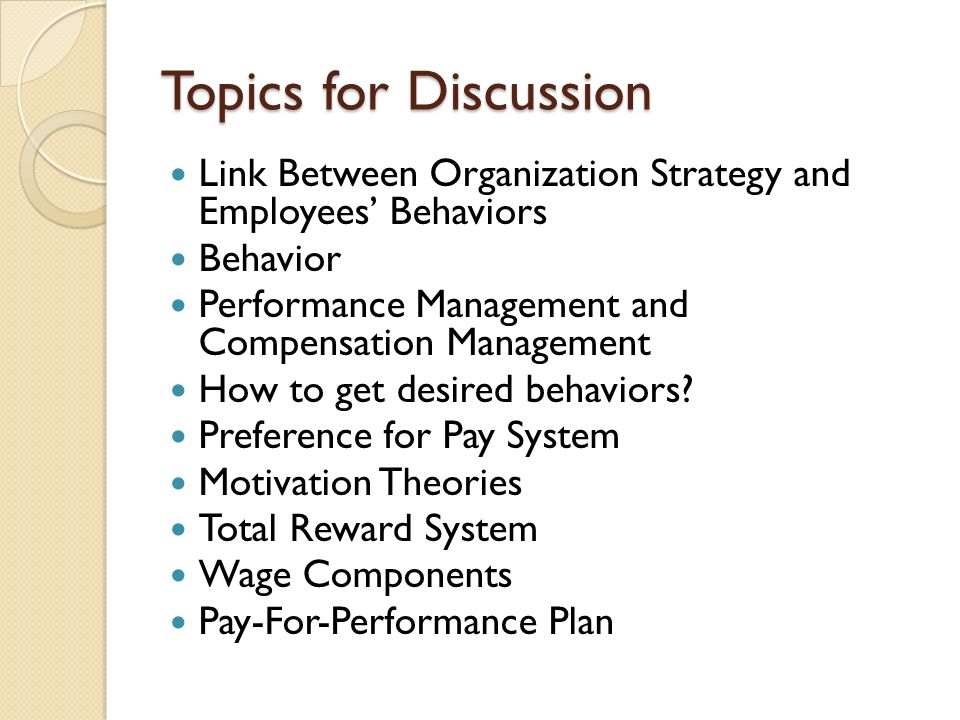 Organizational Behavior Discussion Questions