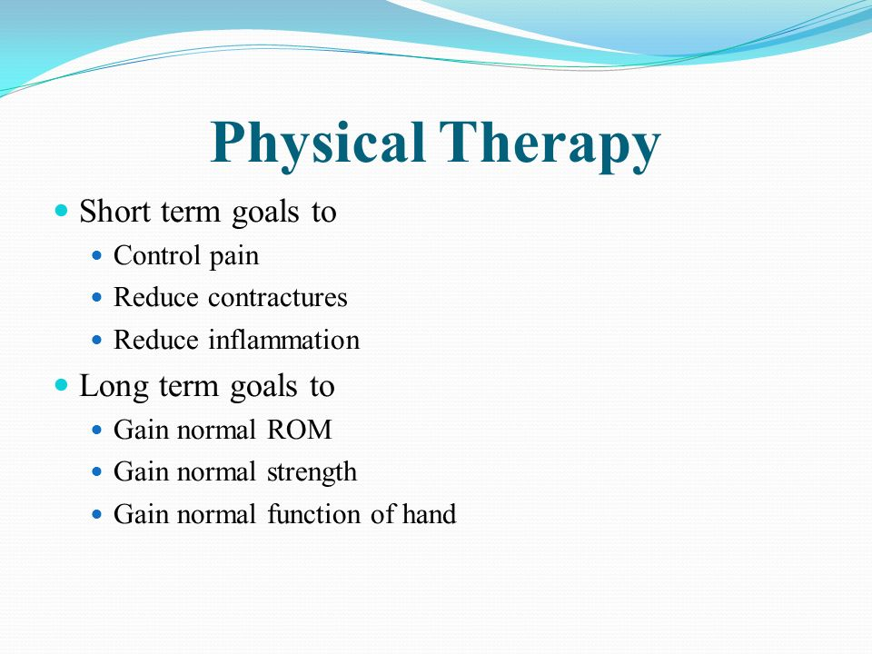 Occupational therapy short term goals