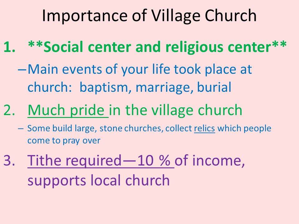 importance of village life The eco-village challenge the challenge of developing a community living in balanced harmony - with itself as well as nature  village life is often,.