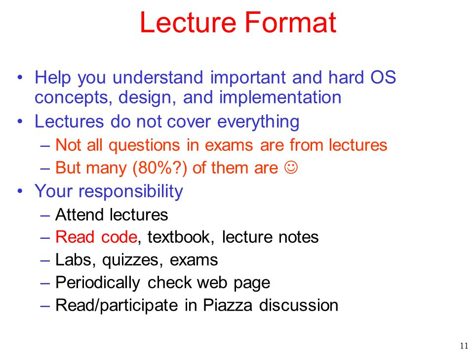 Cs354 operating systems spring ppt download lecture format help you understand important and hard os concepts design and implementation fandeluxe Image collections