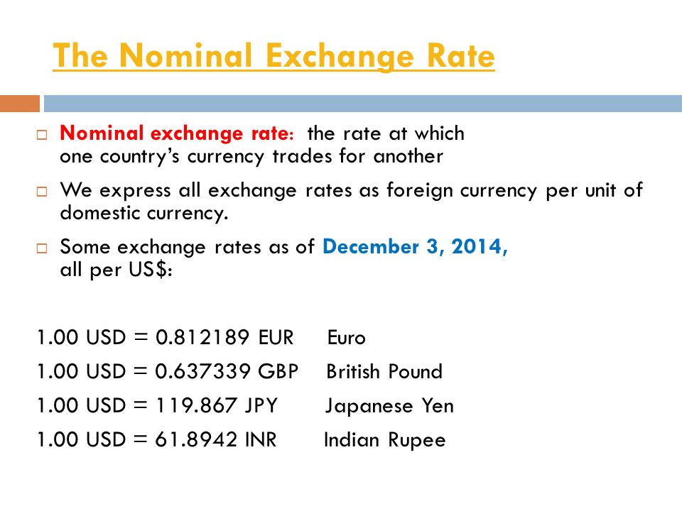 From nominal to real exchange rate