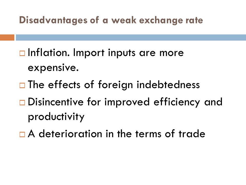 disadvantages limitations of foreign trade policy The advantages and disadvantages of countertrade in the eastern european  ized foreign trade agencies or firms to search more  from a trade policy.
