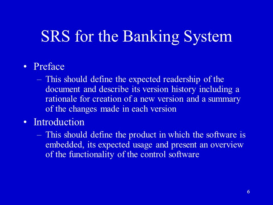 srs for banking Essays - largest database of quality sample essays and research papers on srs for blood bank management system.