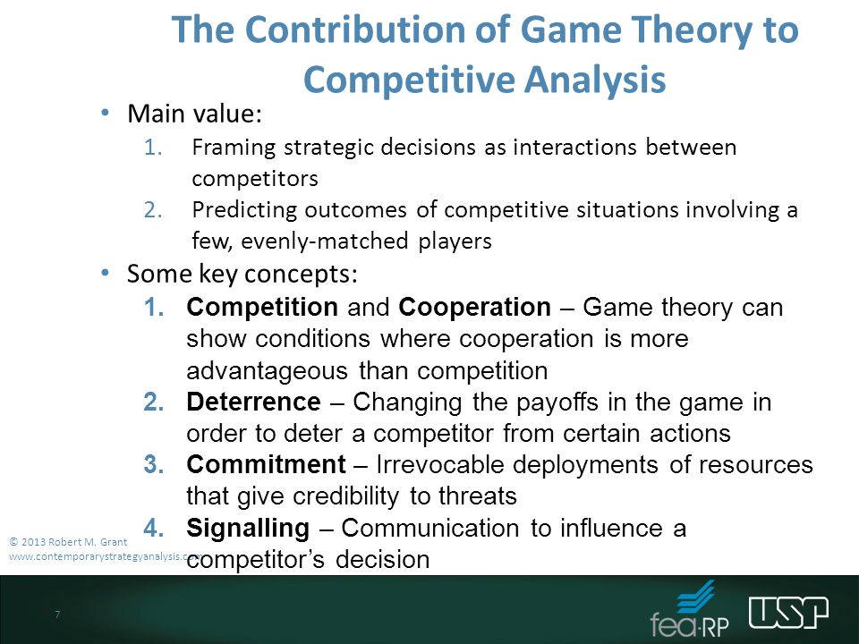 an analysis of the game theory 2013-1-8 introduction to game theory: wining business in a competitive environment  if you are interested in the stability analysis of the essential (and non-essential).