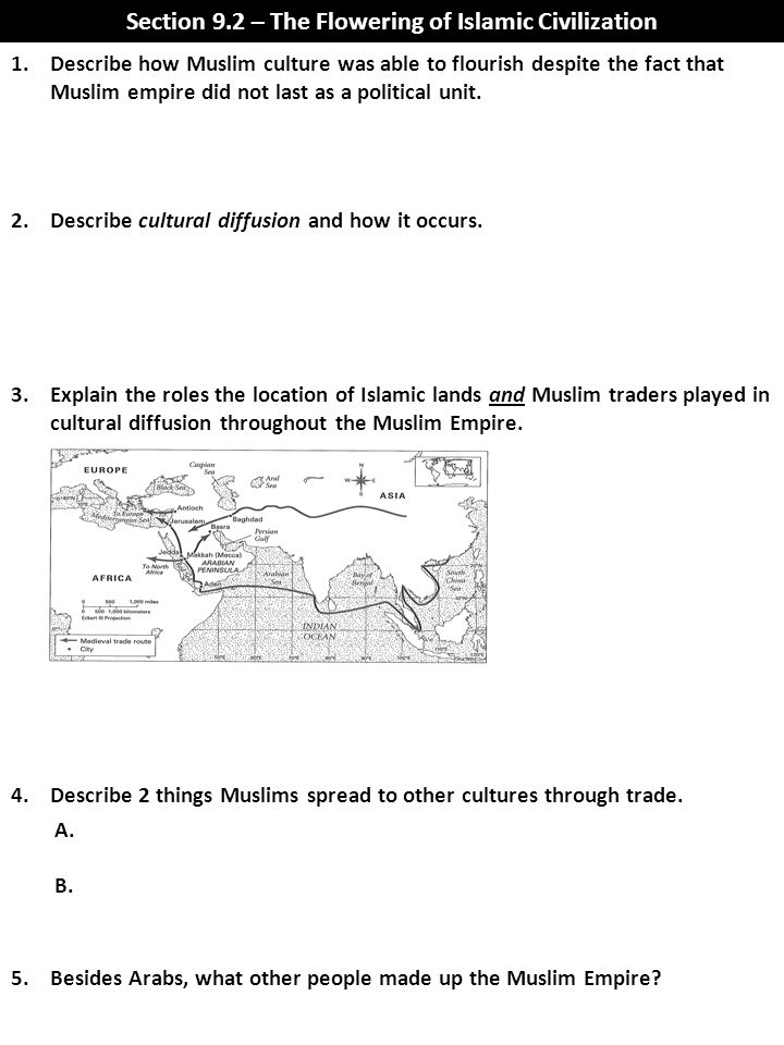 Section 9.2 – The Flowering of Islamic Civilization