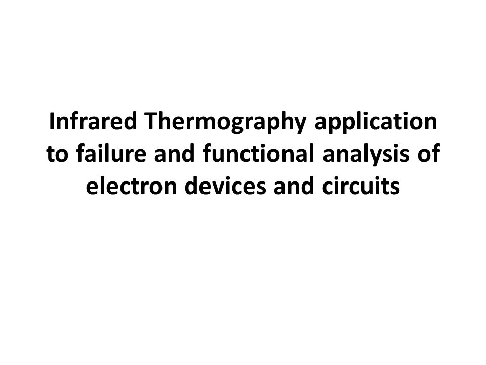 infrared thermography application to failure and