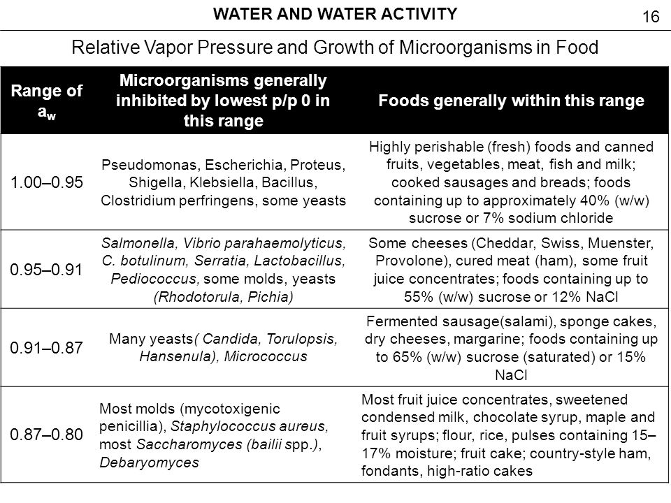 Water And Water Activity Ppt Video Online Download
