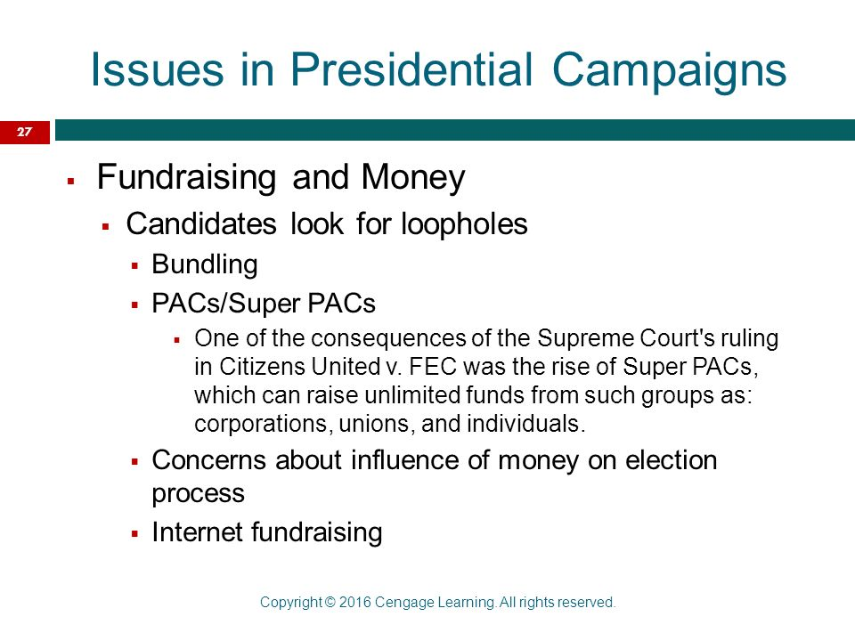 the pros and cons of campaign financing in us elections Federal election commission official website of the agency that discloses campaign finance information, enforces the provisions of the law such as the limits of prohibition on contributions, and oversees the public funding of presidential elections.