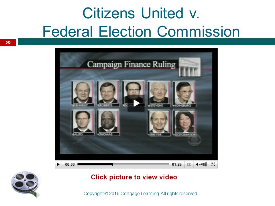 citizens united v federal election comission Citizens united sought an injunction against the federal election commission in the united states district court for the district of columbia to prevent.