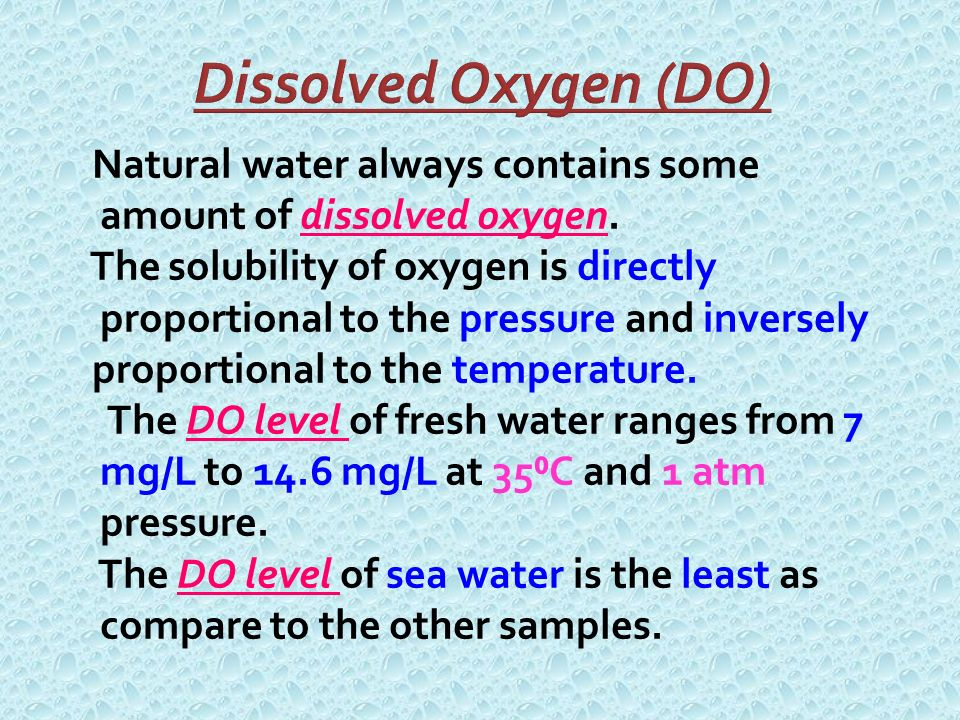 determination of the amount of dissolved oxygen essay Determination of dissolved oxygen in a water essay a+  determination of the amount of dissolved oxygen  determination of chlorine and iodine in water .