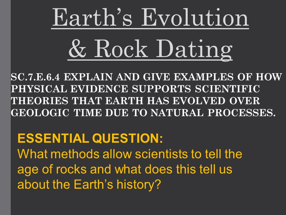 evolution and dating