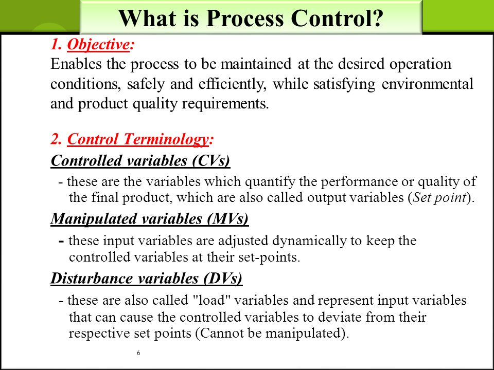 What is Process Control
