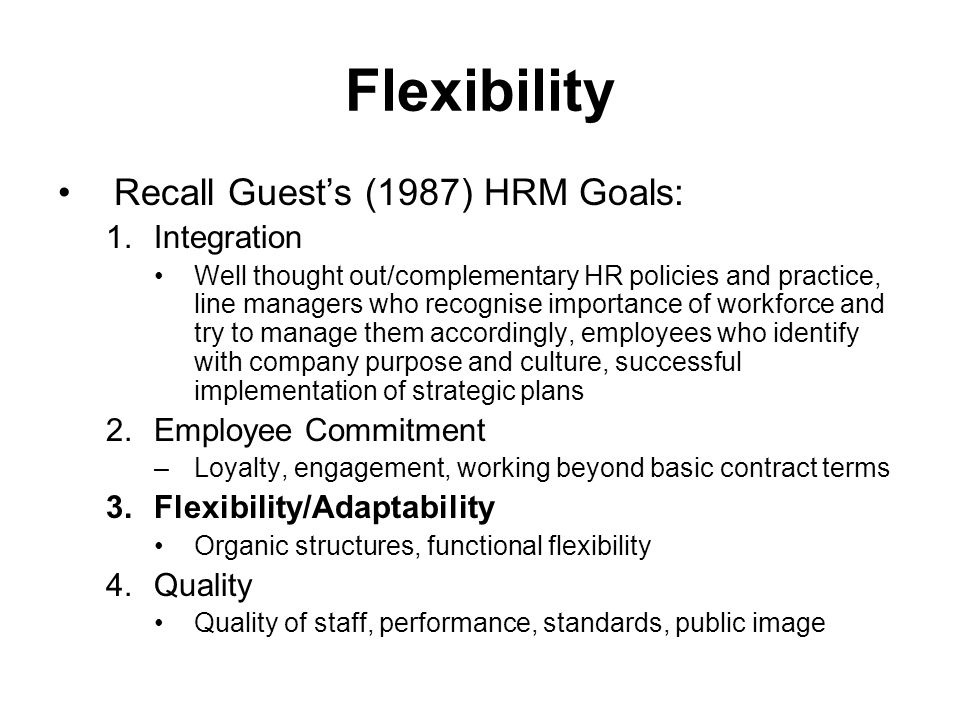 guest 1987 hrm model Best-practice shrm: high-commitment models- free online tutorials for best-practice shrm: and guest (1987) human resource management and the labour market human resource management and the labour market introduction the nature of labour markets and employment systems externalisation or.