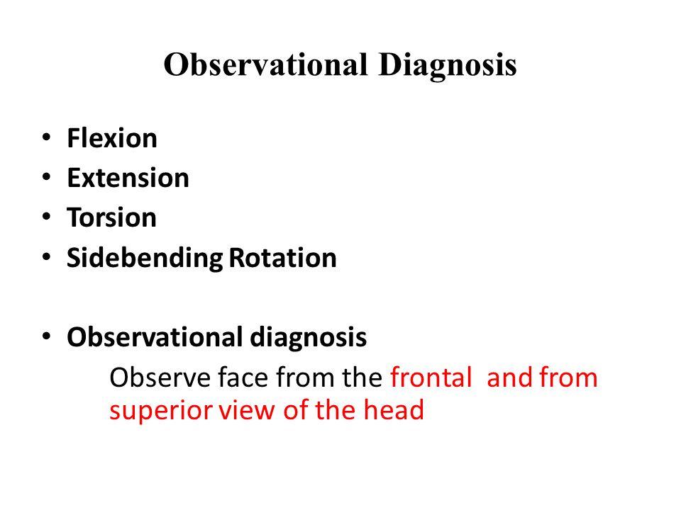 Observational Diagnosis