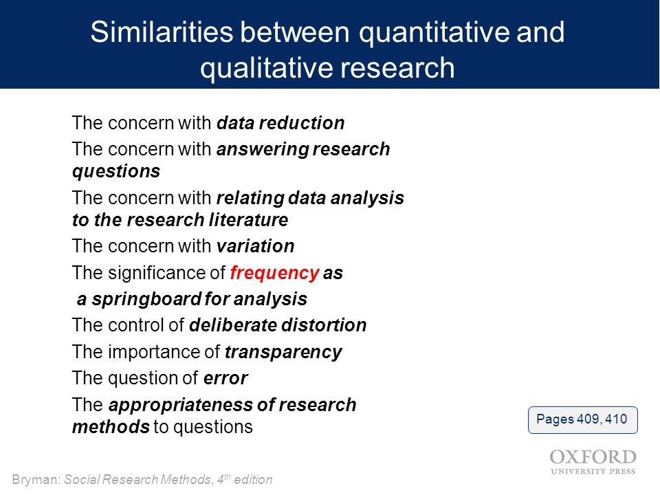 similarities between qualitative and quantitative research Options for accessing this content: if you are a society or association member and require assistance with obtaining online access instructions please contact our.