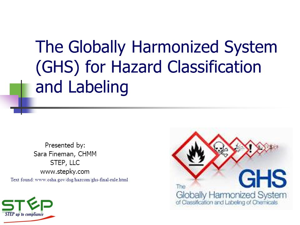 a study of the globally harmonized system Our safety data sheet (sds) software is compliant with the ghs (globally harmonized system) of many countries like europe, united states, china, canada and germany.