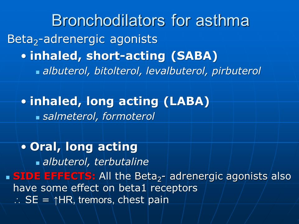 effect of inhaled corticosteroids