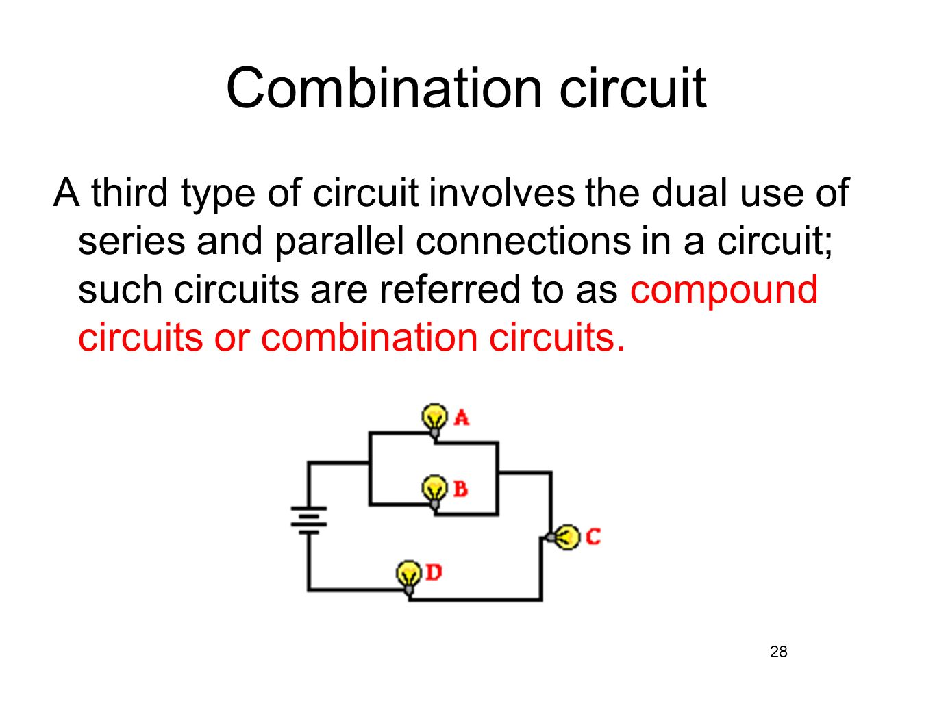 series parallel combinations Physics 215 - experiment 11 series and parallel circuits 42 fig 11-3 combination circuit equipment universal circuit board 2 100- resistors.