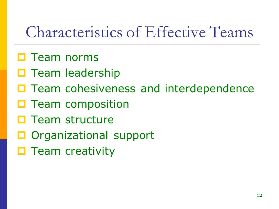 indentifying characteristices of an effective team Build an effective team to achieve your goals and objectives the other characteristics of the effective team team members identify means of.