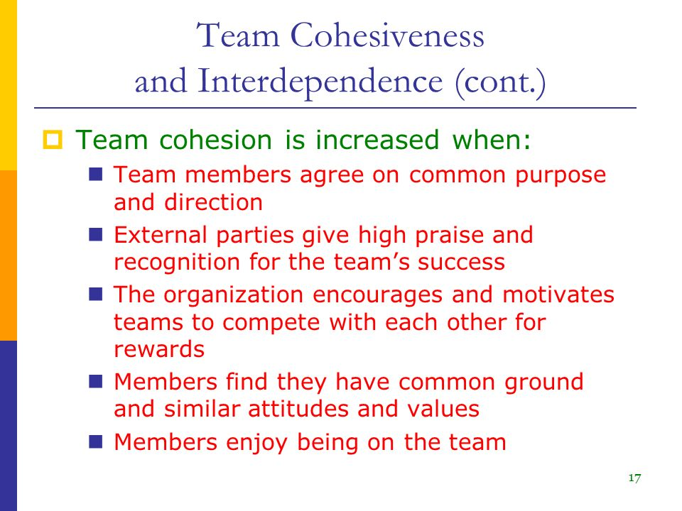 team structures and cohesiveness Work groups and teams in organizations steve w j kozlowski michigan state university, stevekoz@msuedu  the last decade and a half has witnessed a remarkable transformation of organizational structures worldwide although there are economic, strategic, and technological imperatives driving this  individual jobs to team-based work.