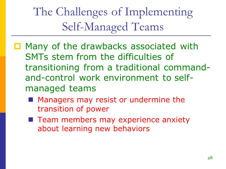 self managed teams challenges 2 overcoming the common hurdles of while role confusion is a common challenge on self-directed teams 5 overcoming the common hurdles of self-directed work.
