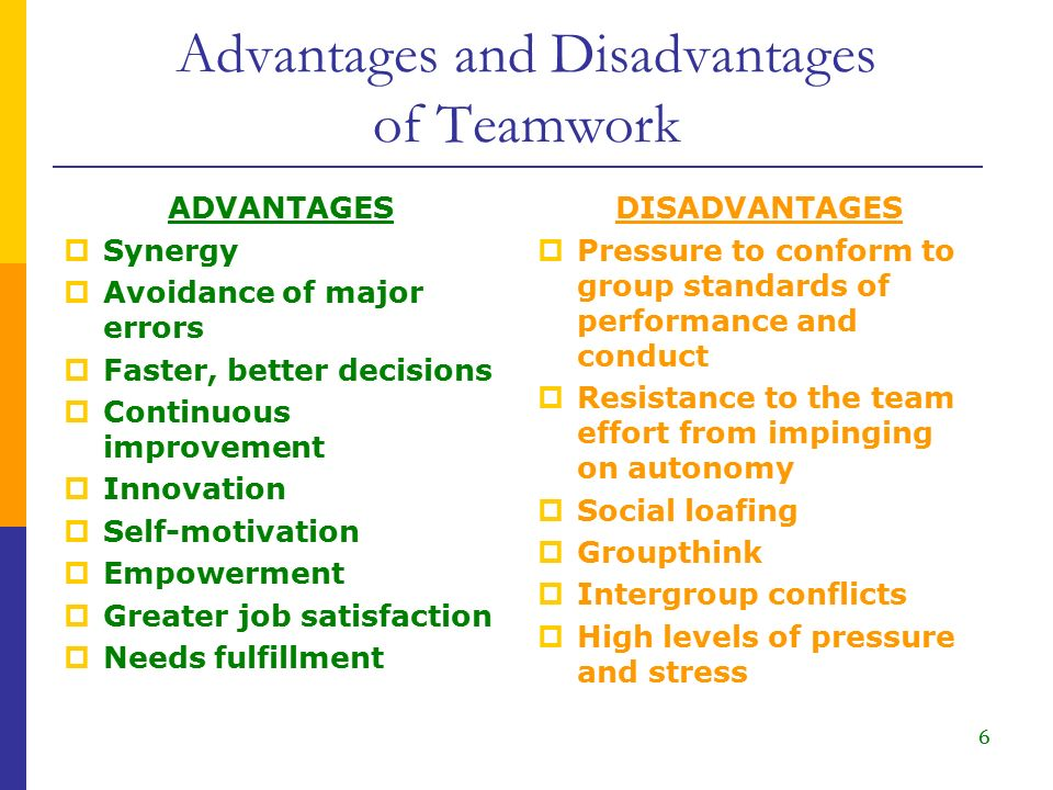 disadvantages and advatages of collaboration Individual vs collaborative writing much writing done outside advantages and disadvantages of i have done collaborative writings many times and each.