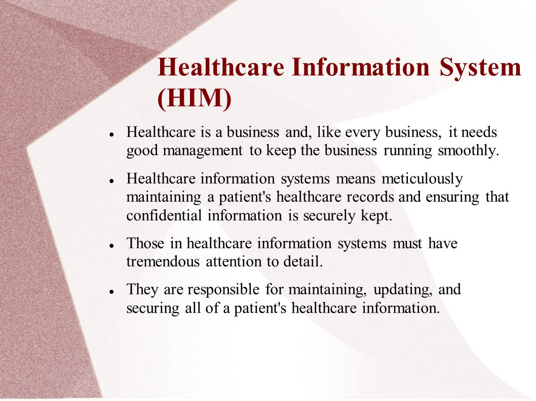 health management information systems This definition explains the meaning of health it, more formally referred to as health information technology, which is the management of patient data and medical.