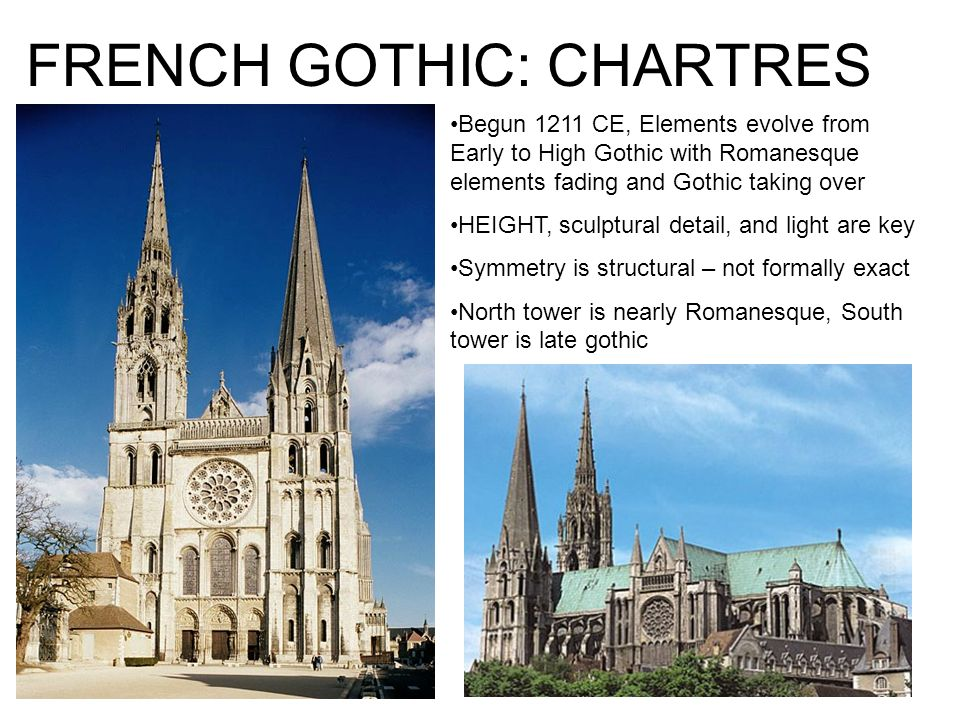 3 FRENCH GOTHIC CHARTRES