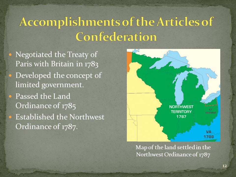 articles connected with confederation in addition to your treaty with paris