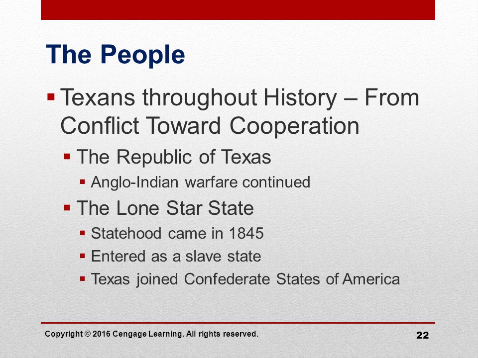 texas as a republic state throughout the history of america Ten geographic facts to know about the state of texas throughout its history,  the territory became an independent republic  com/geography-of-texas.