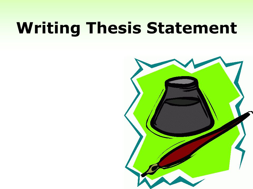 point of writing a thesis We'll also use this question to explore the writing of the main point (main theme / thesis be trying to figure out the main point of your.