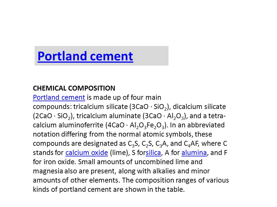 Portland Cement Composition : Making of cement ppt video online download