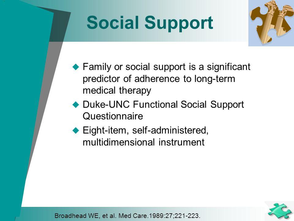 duke unc functional social support questionnaire pdf