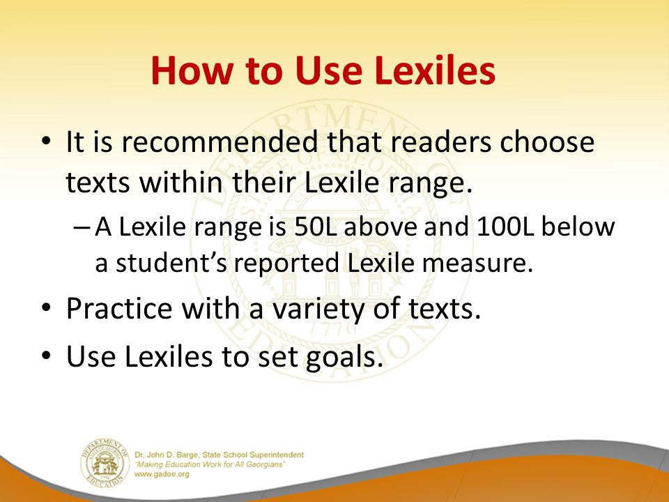 how to read lexile scores