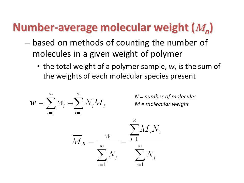 N Molecular Weight Mn Molecular Weight Pi...
