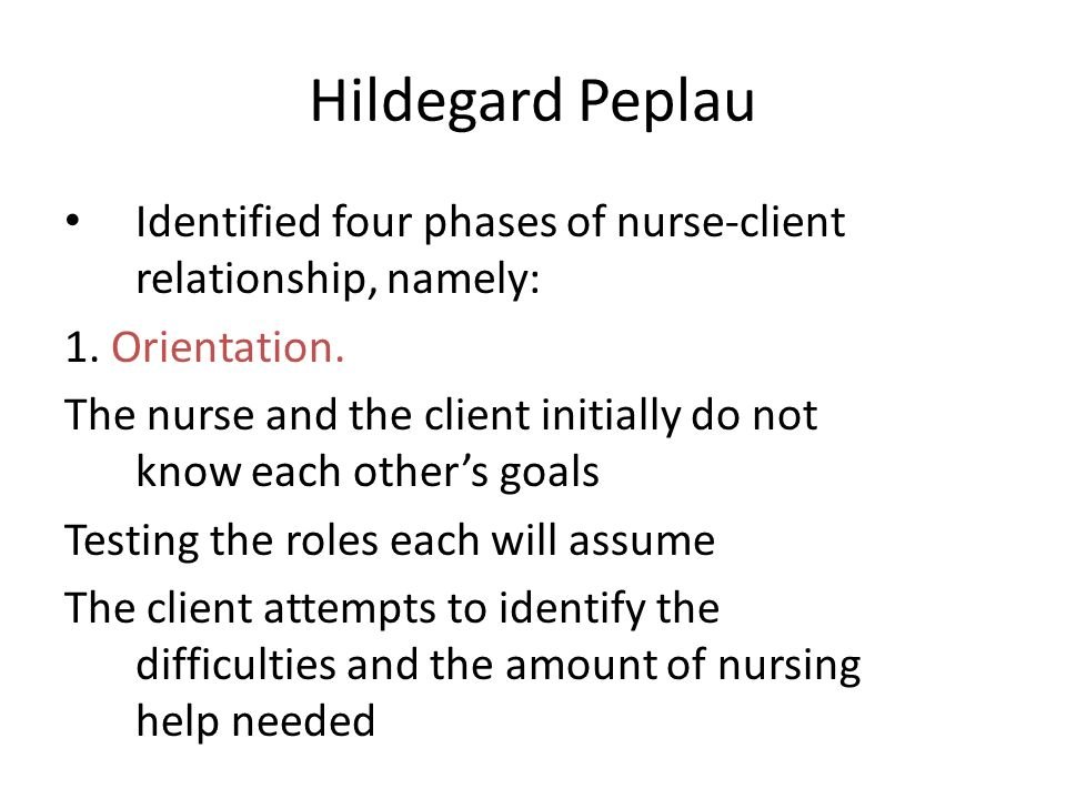 nurse client therapeutic relationship phases honeymoon