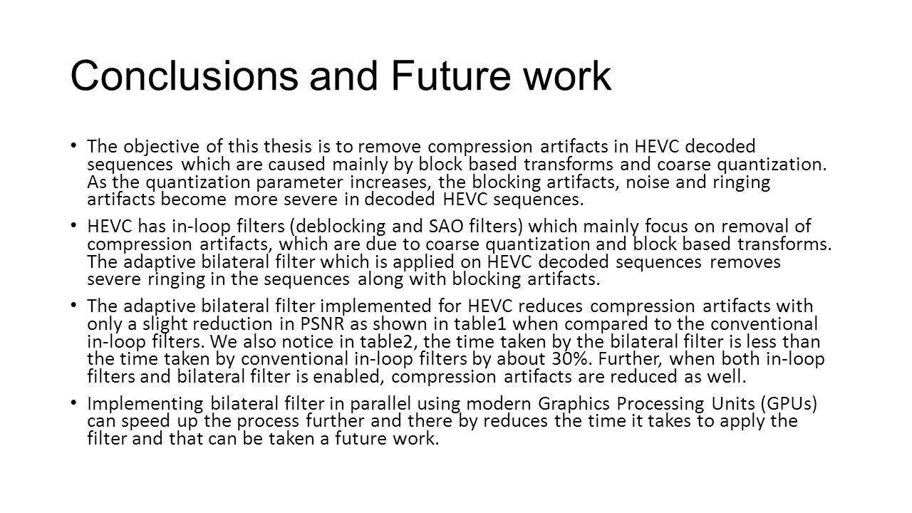 thesis future work