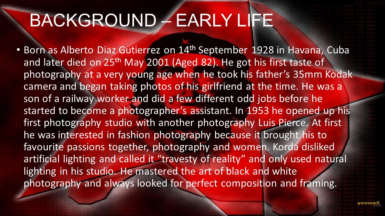 BACKGROUND – EARLY LIFE