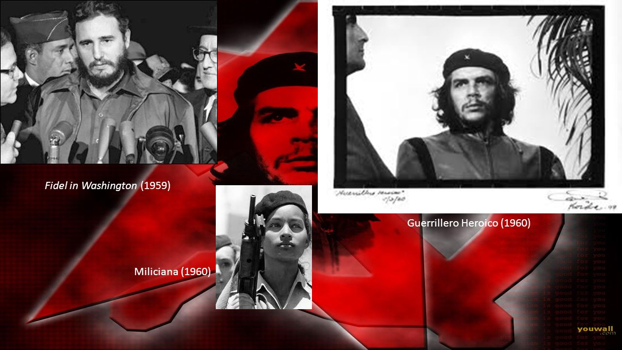Fidel in Washington (1959) Guerrillero Heroico (1960) Miliciana (1960)
