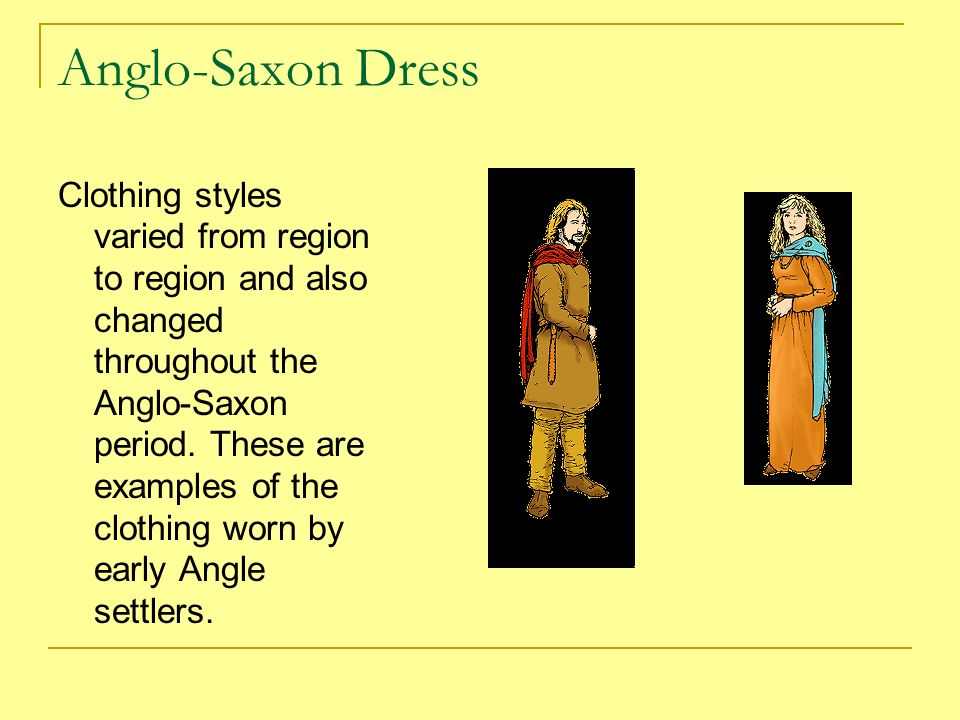the anglo saxon period In the early anglo-saxon period, slaves were generally british captives - a common anglo-saxon term for a slave was wealh (from which we get welsh.