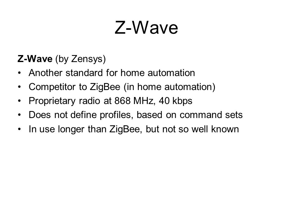 Wireless communications ppt video online download for Define home automation