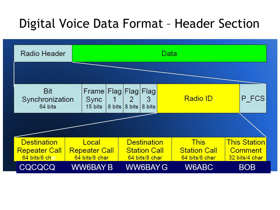 Digital Voice Data Format – Header Section